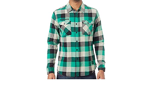 WCC West Coast Choppers Shirt Camicia El Diablo Flannel Workershirt Green