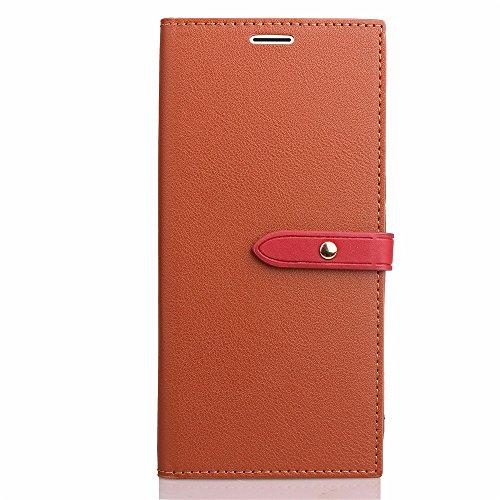 EKINHUI Case Cover Ultra Thin Leight Gewicht PU Ledertasche Business Style Brieftasche Stand Case Retro Folio Tasche mit Gürtelschnalle & Card Slots Für iPhone 6 Plus & 6s Plus ( Color : Black ) Brown