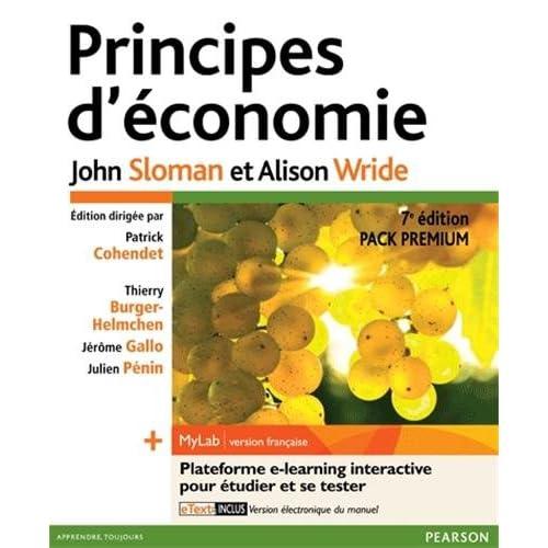 Principes d'économie 7e édition - Pack Premium FR : Livre en français + MyLab en français