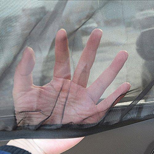 QIND 2Pcs Auto Fenster Fliegennetz Universal Auto Sonnenschutz Netz Visier für Auto Fenster, UV-Schutz, Insektenschutz Atmungsaktives Mesh Sonnenschirme für Baby- und Erwachsene