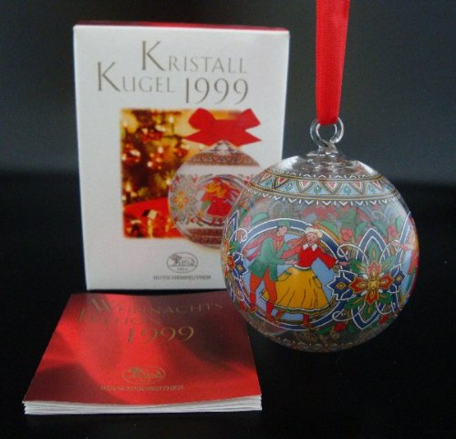 Hutschenreuther Kristall Kugel 1999*Rarität*Neu, Weihnachten, Glaskugel, Kristallkugel, Baumschmuck, Anhänger, Baumanhänger, Weihnachtskugel -