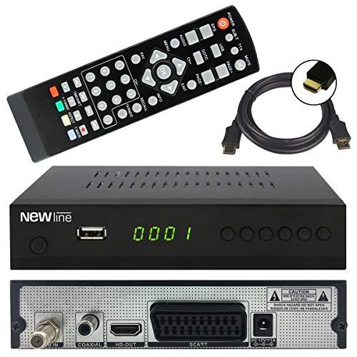 netshop 25 New Line X1 digitaler HD SAT Receiver (HDTV, DVB-S2, HDMI, 1080p, SCART, USB Mediaplayer, Full HD, Astra vorinstalliert) - schwarz