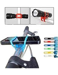 Primaneo Smartphone Halterung - Universal für Handy, Smartphone, Navi/GPS, Taschenlampe uvm. - Passt an jedes Fahrrad bzw. jede Stange (auch Kinderwagen, Scooter)