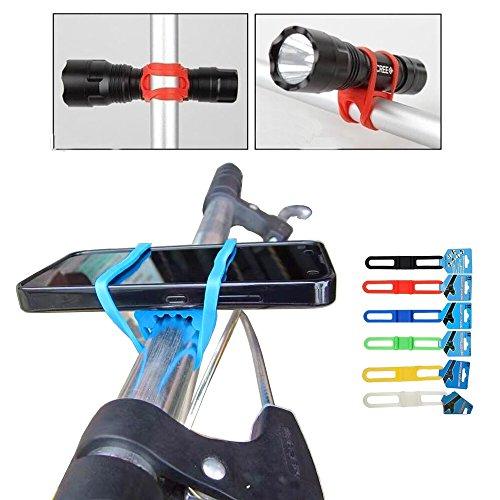 Primaneo Smartphone Halterung - Universal für Handy, Smartphone, Navi/GPS, Taschenlampe uvm. - Passt an jedes Fahrrad bzw. jede Stange (auch Kinderwagen, Scooter) (rot)