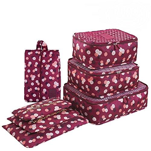 Organizador de embalaje de equipaje de viaje, Cubo de embalaje impresa