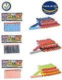 #10: Bullets for Toy Guns Set of 90 by Wishkey | Multicolor Universal Soft Foam Dart for Blaster, Blaze Storm, Nerf Strike Elite Guns | Target Game for Kids or Adults