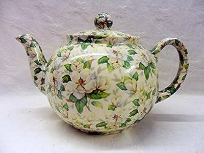 Magnolia en chintz Théière 6tasses par Heron Cross Pottery.