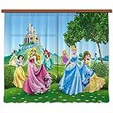 AG design FCS xl 4319 Rideau voilage pour chambre d'enfant Motif princesse Disney