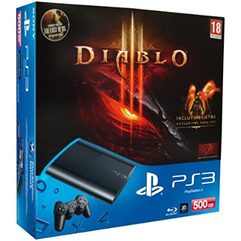 PlayStation 3 - Consola 500 GB + Diablo III + The Last Of Us