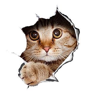 Alicemall Wandaufkleber Katze Wansticker Wandtattoo Zimmer Mauspad Wanddekoration Kinderzimmer