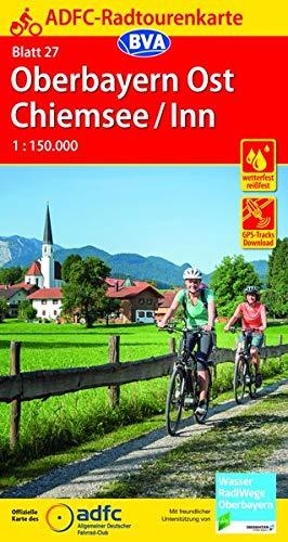 ADFC-Radtourenkarte 27 Oberbayern Ost / Chiemsee / Inn 1:150.000, reiß- und wetterfest, GPS-Tracks Download (ADFC-Radtourenkarte 1:150000) -