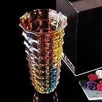 Stile Europeo Glaze colori coltura idroponica Lily vaso trasparente Decorazione Vetro