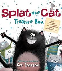 Splat the Cat Treasure Box: Splat the Cat Sings Flat, Splat the Cat and the Duck with No Quack, Splat the Cat: Back to School, Splat!, and Color-It-Yourself Poster by Scotton, Rob (2011) Paperback