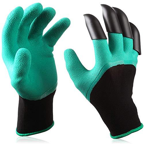 Covok Gartenhandschuhe Atmungsaktiv Aus Leder Personalisiert,FüR Damen Und Herren,Naturkautschuk,Flexible,Passform,Atmungsaktiv,Wasserdicht,Optimaler Schutz,GrüN,Eine Größe
