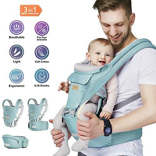 ZHENDUO Babytrage Tragetuch Ergonomische Tragetücher Infant Baby Sling Seat Rucksack Vorne SlingRemovable Breathable Einstellbare Swaddle Wrap (Rosa) - Schnallen-träger Mei Mit Tai