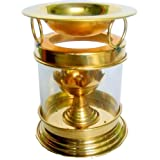 Collectible India Large Diya Oil Lamp Brass Diffuser | Camphor Lamp, Aroma Lamp, Oil Burner, Oil Diffuser