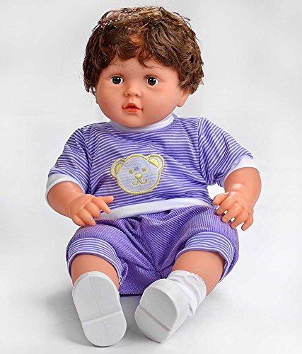 """Mikkis Good Luck Boy BlueMulticolor. 18"""" doll role play for both girls and boys. can dress and comb, soft and sweet , highly acclaimed international product and award winners. Real life baby doll and highly scented. ideal for gifts for any occasion. Highly rated by customers and high performance product."""