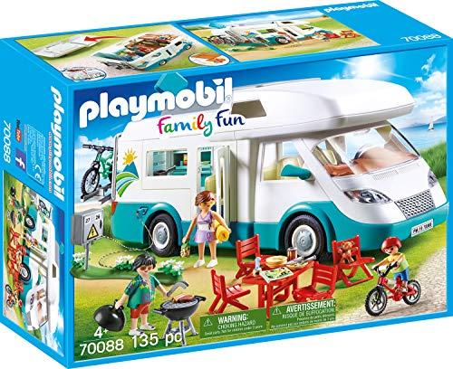 Playmobil 70088 Family Fun Caravane Multicolore