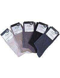 Herren Socken mit Komfortrand, ohne Gummi, unifarbige Anzugsocke, Größe 39/42 oder 43/46