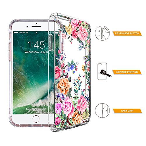 Floral Case for iPhone 7 iPhone 8 Rose Garden