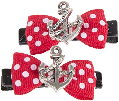 Sailor ANCHOR Anker Polka DOTS Punkte BOW Haarspange - 1 Paar Rockabilly