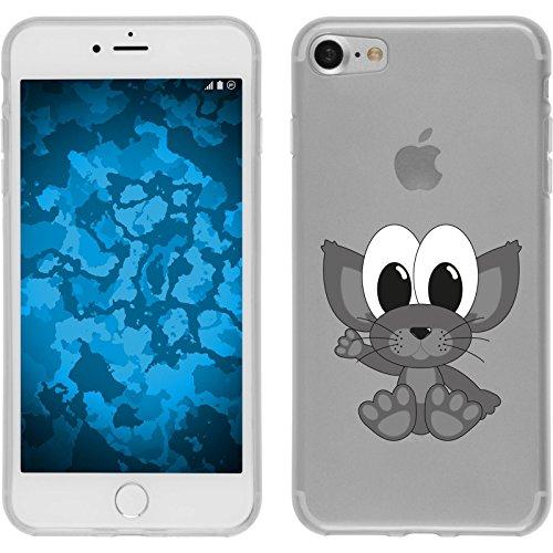 PhoneNatic Case für Apple iPhone 7 Silikon-Hülle Cutiemals M5 Case iPhone 7 Tasche + 2 Schutzfolien Motiv 5