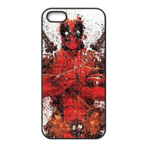 Deadpool coque iPhone 4 4S Housse téléphone Noir de couverture de cas coque EBDXJKNBO12094