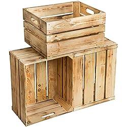 "'3cajas de madera ""Rolf CA 49x 39x 29cm (LxBxH)-, vetado"