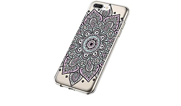 SainCat Custodia iPhone 7 Plus Cover iPhone 8 Plus Mandala