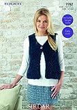 Sirdar Ladies Gilet Touch Fur Knitting Pattern 7782