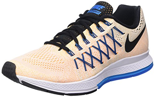 Nike Herren Air Zoom Pegasus 32 Trainingsschuhe Multicolore (White/Black/Lsr Orange/Pht Bl)