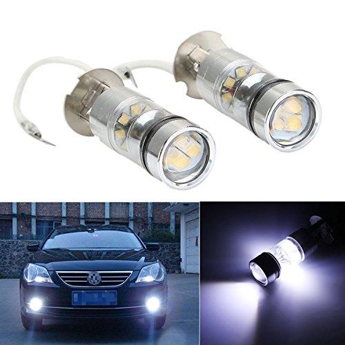 FEZZ 2x LED Xenon Birnen H3 20SMD Auto Nebel Lampen Nebellicht Tageszeitlich 100W 6500K