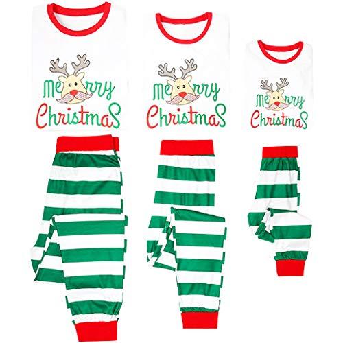 Pigiama Famiglia Natale Pyjama Cotone Lungo Donna Bambini Uomo Pigiami Xmas Costume Maniche Lunghe Indumenti da Notte Morbida Pjs Papà Mamma Pigiama Vestiti Set a Strisce