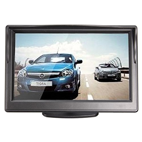 5 Zoll TFT LCD Auto Monitor + CMOS wasserdichte Nachtsicht-Rückfahrkamera