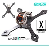 DroneAcc Quadcopter Carbon Fiber Frame GEPRC Sparrow 139MM FPV marco con RGB LED 3K marco de fibra de carbono 3 mm de espesor de apoyo RUNCAM Swift Mini y lente Micro Swift para Racing Quadcopter Drone (GEP-MX3) (145MM)