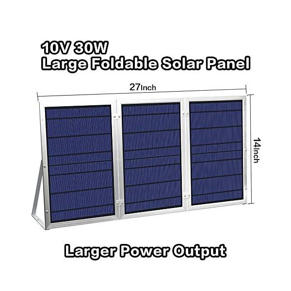 [30W Foldable Solar Panel ] YINGHAO Solar Panel Lighting Kit, Solar Home DC System Kit 3