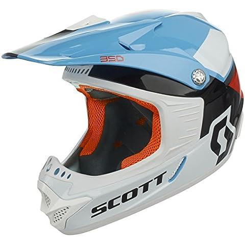 Scott 350 Race niños MX Enduro de moto/bici de casco blanco/naranja/azul 2016, color , tamaño L