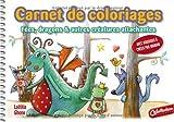 Carnet de coloriages et de créations : Fées, dragons et autres créatures attachantes