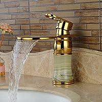 AA Rubinetto,Giada Ti-PVD monocomando monoforo bagno rubinetto lavabo cascata