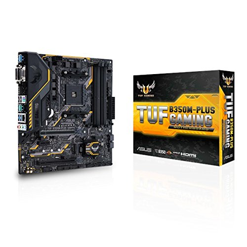 Price comparison product image ASUS TUF B350M-PLUS AMD AM4 Micro ATX Gaming Motherboard - Black