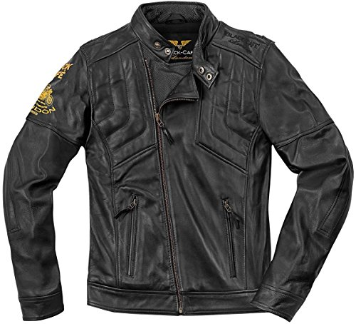 Black-Cafe London Sari Veste de moto en cuir