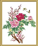 Diy oil painting, paint by number kits- Painting Peony 16*20 inches.