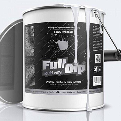 Full Dip - Bidón de 4 L de vinilo líquido color blanco opaco