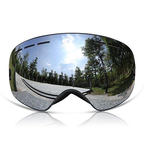 Skibrille PRO Alpina Snowboardbrille All-Frameless, Verspiegelt (Für Damen und Herren) Skibrille für Brillenträger Anti-Fog Pink,Schwarz,Blau
