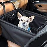 LIONSTRONG Hunde Autositz, kleine bis mittlere Hunde, Hundesitz wasserdicht, Hundedecke, geeignet für die Rückbank +inkl Gratis Sicherheitsgurt für den Hund (Rücksitz)