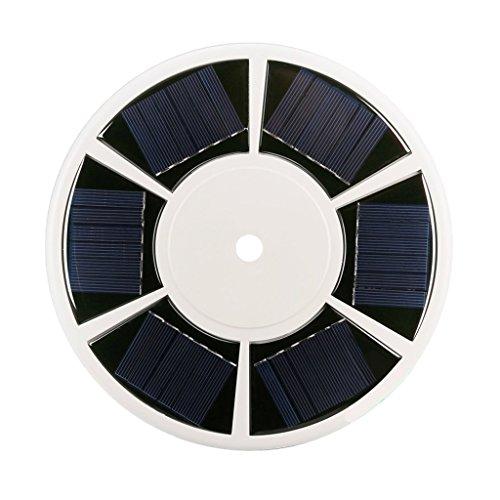 Homyl 42 LED Fahnenmast Fahnenstange Solar Lampe Licht Außenleuchte Gartenleuchte, Golden Flag Ball Top - 42 LED Solar Light (Solar-pole-lampen)