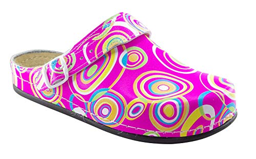 AWC Damen Berufsschuhe Tiefbett, Farbe: Pink/Bunt, Größe: 41