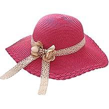 Hosaire 1x Sombrero de Paja Encaje Flor Sombreros del Sol para bebé para  Gorras de Visera 5ae94e85657