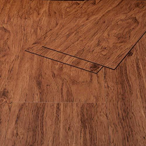 Klebe Vinylboden Selbstklebend Holzoptik Eiche rot-braun 1,3mm Vinyl Bodenbelag Vinstar Easy