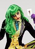Womens Joker Stil grün Misfit Perücke